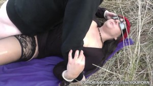 Dogging slutwife Marion gangbanged in public 2016