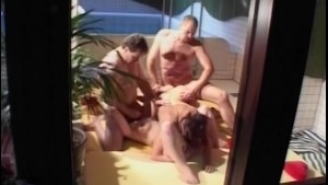 Sauna Group Fuck With Two Horny Matures