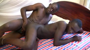 Black African Twinks Chui and Eric Bareback