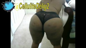 Cellulite Delight Fat Ass Shaking Ebony Big Booty Black Lace Panties