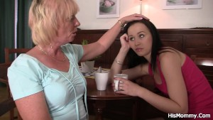 Teen and her future mother-in-law toying