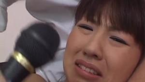 Misato Kuninaka, Asian schoolgirl, goes wild on two dicks