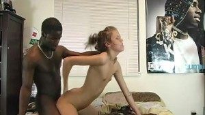 Her tight white pussy stuffed with bbc in Homegrown Video