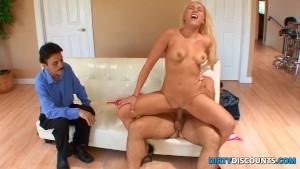 Cuckolding blonde guzzles