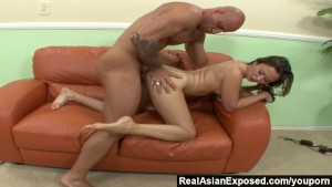 RealAsianExposed - Kita fucks and sucks but wants the load on her feet