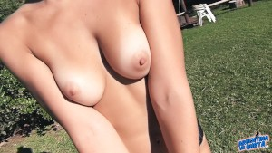 Big Round Ass Blonde Babe Puffy Perky Tits Outdoor