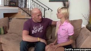 Dagfs - Emma Mae bends-over and gets a massive dick up her slit