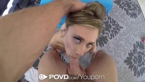 POVD Naughty blonde Anya Olsen POV deepthroat