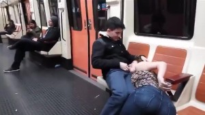 Fellatio on the Madrid Spain Underground (Metro)