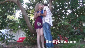 Fucking me in the garden for the voyeurs o my livecam