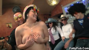 Huge tits group bbw party