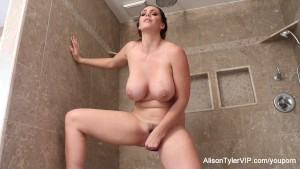 Alison Tyler rubs herself