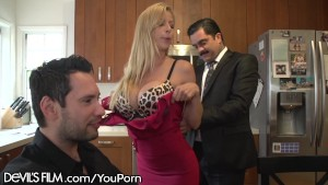Slutty Cougar Alexis Fawx Hot for Husbands Employee!