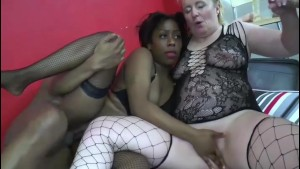 Mature one 50-year-old blonde introduces a bitch Blackette