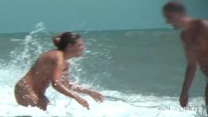 Nice to see nudist on the beach in the sun