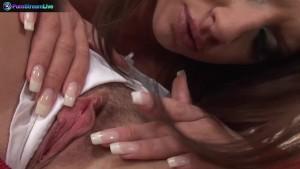Lesbians Bambi & Petra rubbing each others cunts