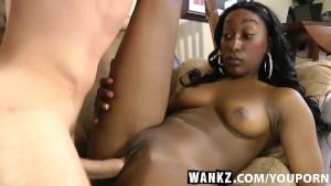 WANKZ- Black Beauty Blowing Her White Producer