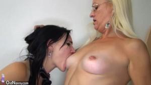 OldNannY Blonde Granny and Tiny Teen Lesbian