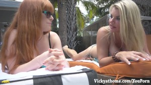 Hall of Fame MILF Vicky Vette s 1st Video With Redhead Penny Pax