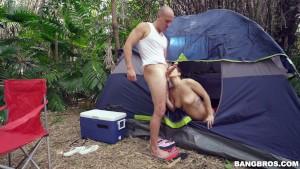 keisha grey bangs her boyfriend's buddy in the woods