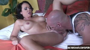Sexy Holly West fucks and eats cum