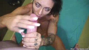 Milf Teases To Get His Warm Load Shot Across Face