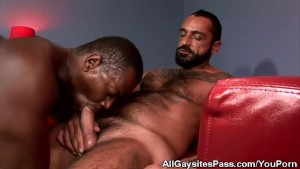 Interracial Blowjobs For Lance And Tom
