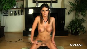Sexy Brooklyn Chase cums hard riding a Sybian