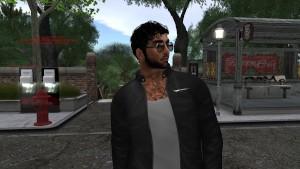 Enzo un beau mec virtuel en en jean et manteau noir - virtuelsexe.fr
