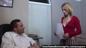 HumiliatedSchoolGirls - Melanie uses her tight pussy to seduce her StepDad