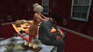 Fred Adjani rencontre une jolie femme en sous vêtement avec de gros seins et de belles fesses