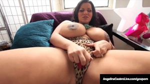 Angelina Castro Masturbates, Squirts & Gives a POV BlowJob!