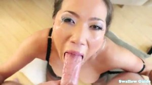 Kalina Ryu savagely takes dick down her throat, she wants cum for breakfast.flv