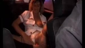 Anais plays with dildo in the car