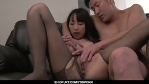 Busty Rina Mayuzumi works magic on two big cocks