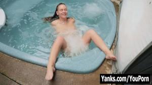 Yanks Honey Ruby Wood Masturbates In Water