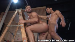 RagingStallion Gorgeous Latin Hunk gets Ass Drilled