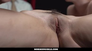 MormonGirlz-Lesbian Massage While He Watches