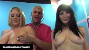 Busty Blonde, Maggie Green & UK Samantha Bentley Get Fucked!
