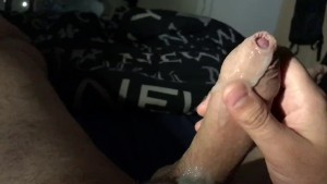 Huge cum load after producing a lot precum