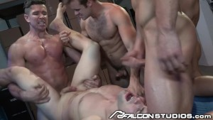 FalconStudios Hunks Get Hazed in Ass Slam Orgy
