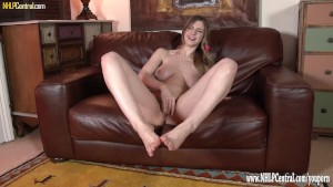 Stella Cox wants foot sex naked teasing feet encouraging you to jerk off over them while she masturbates with you