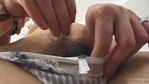 Subtitled Japanese amateur nak