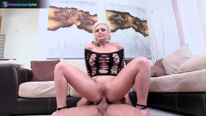 Phoenix Marie proudly shows her gaping hole