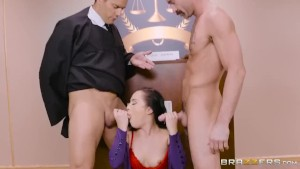 Brazzers - Defendant Gets Double Dicked