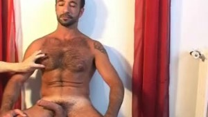 In spite of him: Bren's cock (a delivery guy) gets serviced.