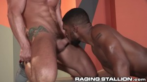Ragingstallion jimmy duranos hard cock for ebony hunk 4