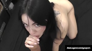Frenchie Alex Legend Bangs UK Ava Dalush & Cums On Her Feet!