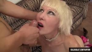 Old woman Dalny Marga seduces boy