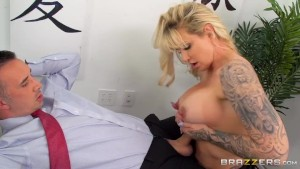 Busty Office Milf Gets Fucked By Big Dick in The Ass - Brazzers